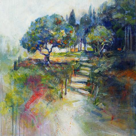 Sicile. L'escalier des orangers