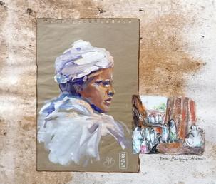 Portrait jeune homme et vignette lali