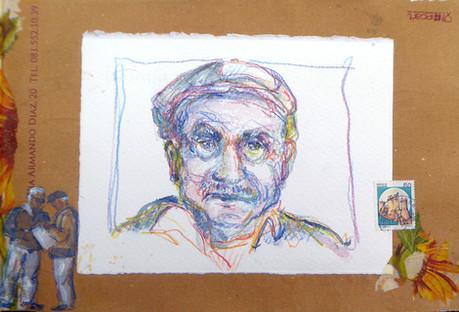 Portrait crayons de couleurs