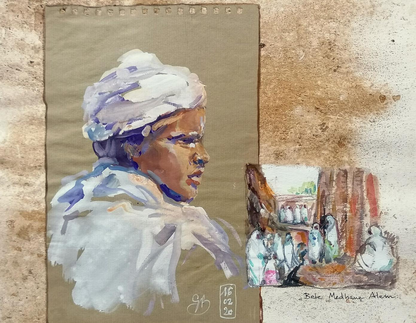 Portrait jeune Diacre Lalibela