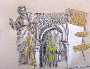 Statue entrée Giralda