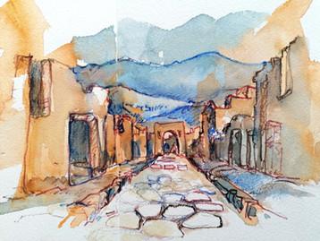 Rue à Pompéi