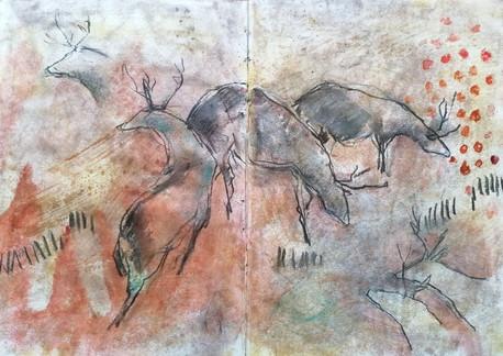 Fresque à la main c