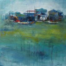 Cambodge : les eaux bleues du Tonlé Sap