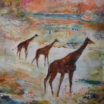 Girafes papier