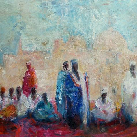 Burkina. L'ecole sur la place