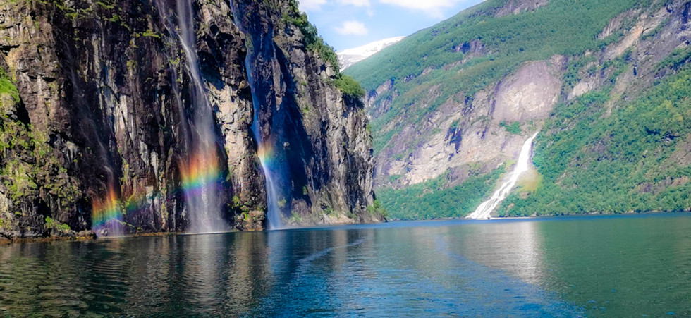 Rainbow in the fjord