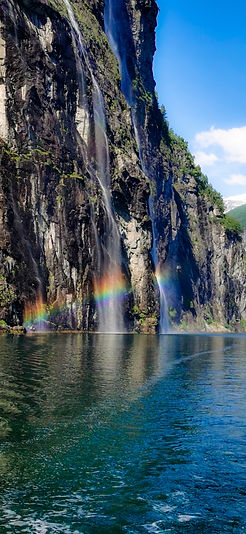 Rainbow in Geiranger