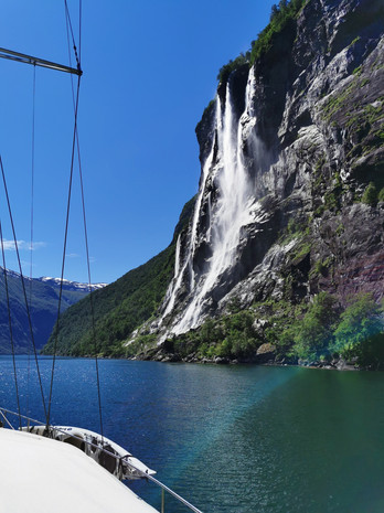 The seven sisters Waterfall in Geirangerfjord