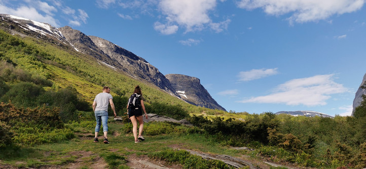 Hiking in the fjords