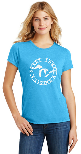 Great Lakes Living - Women's Clothing - Label Tee - Turquoise 1