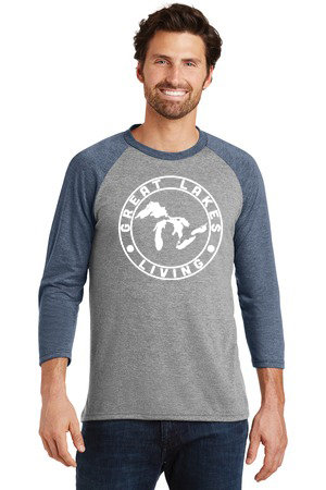 Great Lakes Living - Clothing - Men's Raglan - Navy