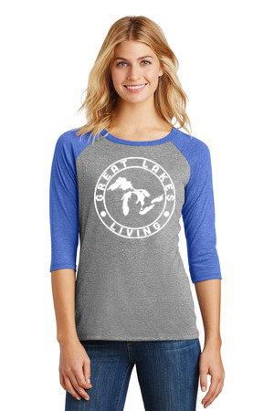 Great Lakes Living - Clothing - Women's Raglan - Royal