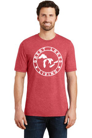 Great Lakes Living - Clothing - Men's Label TShirt - Red