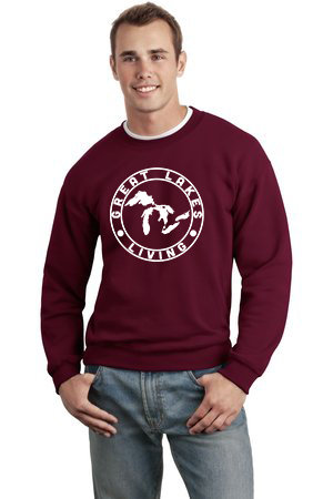 Great Lakes Living - Clothing - Outerwear - Sweatshirt - Label - Maroon