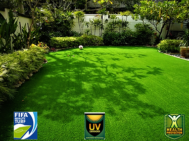 Synthetic grass in garden with Y&Y Grass