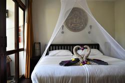 Främre sovrum med dubbelsäng