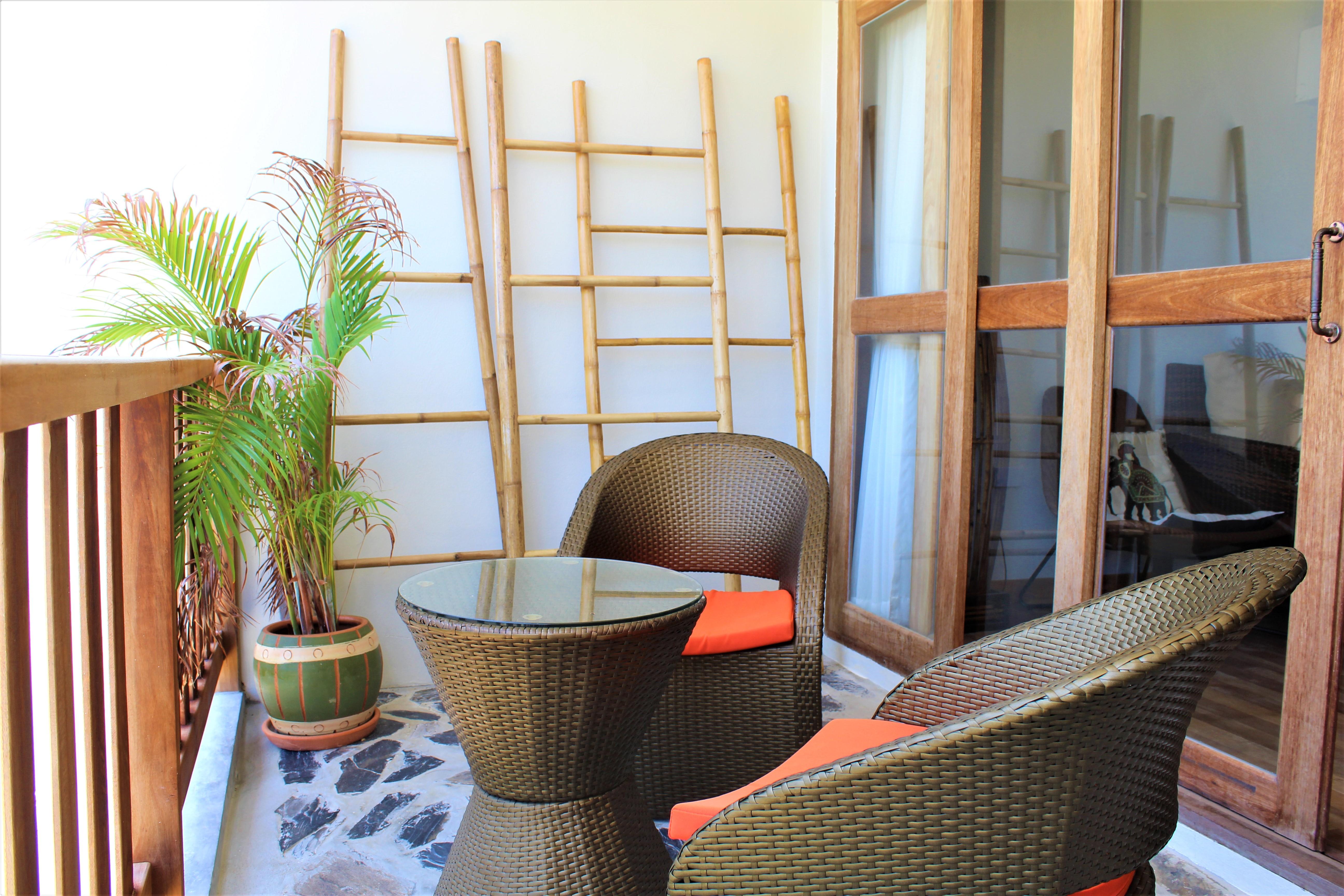 Sittplats på balkongen