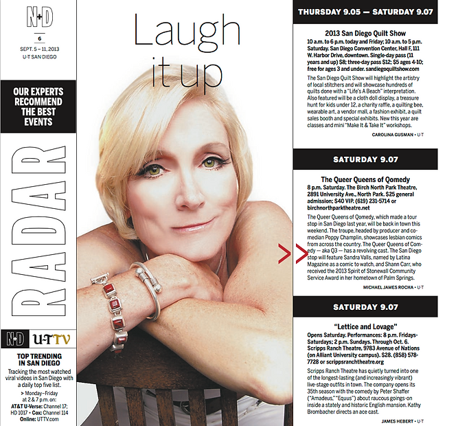 Laugh it up article abot Poppy Champlin