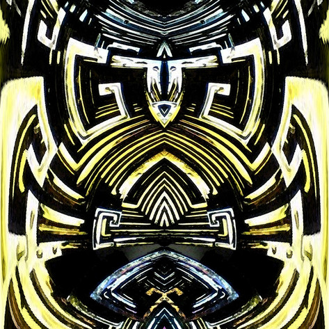 Symmetrical abstract fractal art