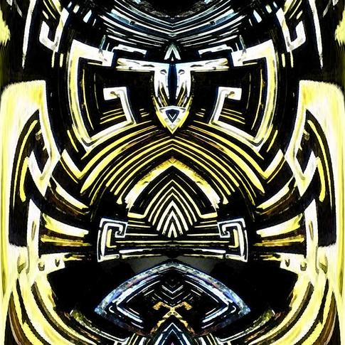 Symmetrical abstract fractal art