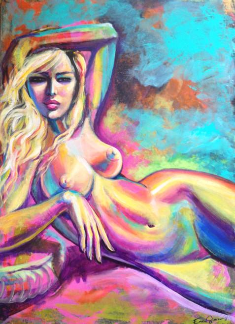 Nude blonde girl