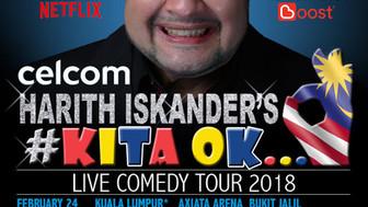 Celcom Harith Iskander's #KitaOK Live Comedy Tour 2018
