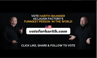 Vote Harith Iskander as LAUGH FACTORY's Funniest Person in the World