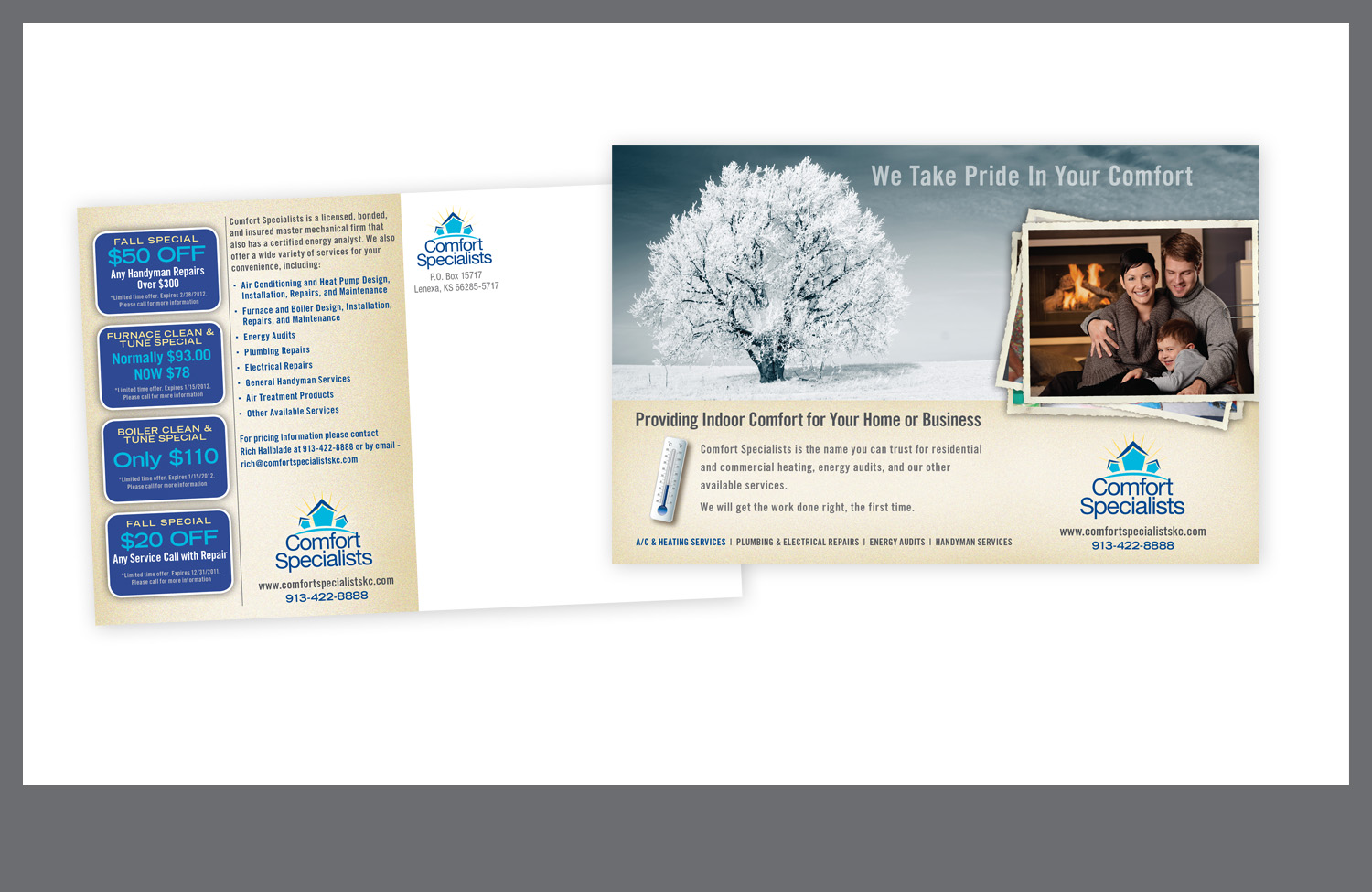 Comfort Specialists direct mail