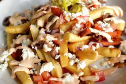 mount olympus smoothered greek island fries