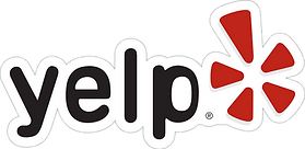 yelp text and logo - this heads the a section that contains some of our Yelp reviews.