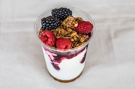 Yogurt Trifle w Mixed Fruit Homemade Gluten Free Granola