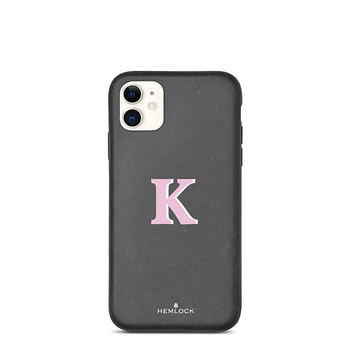 #PinkHemlock Funda biodegradable iPhone - Monogram K