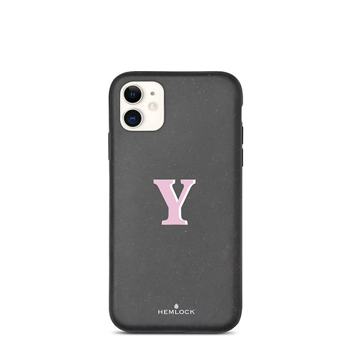 #PinkHemlock Funda biodegradable iPhone - Monogram Y