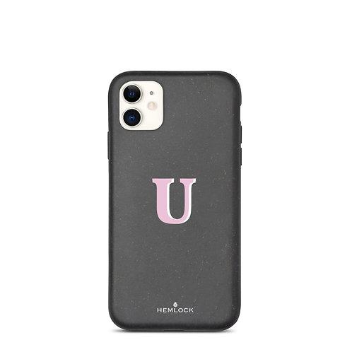 #PinkHemlock Funda biodegradable iPhone - Monogram U