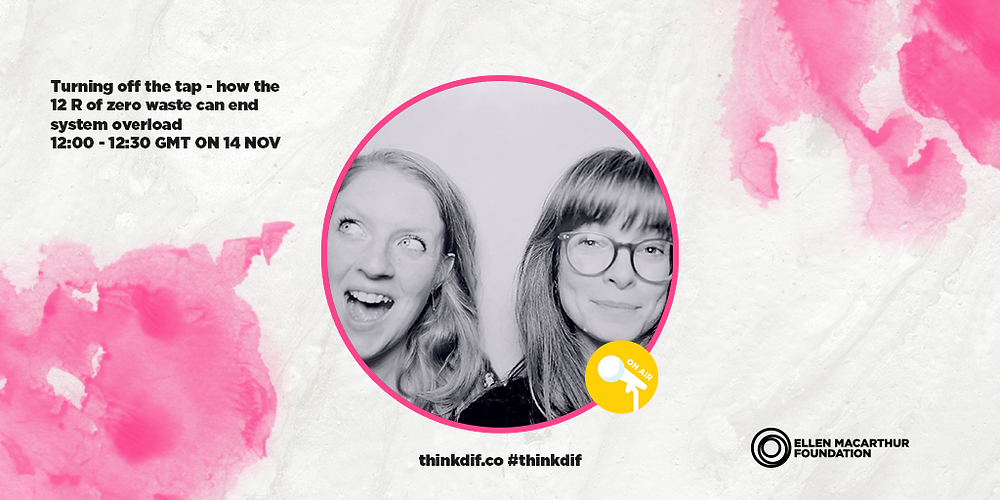 The hosts Evelina and Malin of the Love Zero Waste podcast are featured on the Ellen MacArthur Foundation's Disruptive Innovation Festival thinkdif