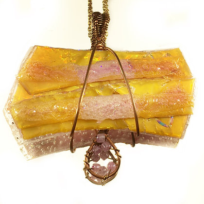 Pink and Yellow Pendant