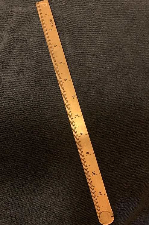 "24"" Fold up Brass Ruler"