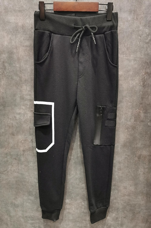 Jogging pants with lateral pocket