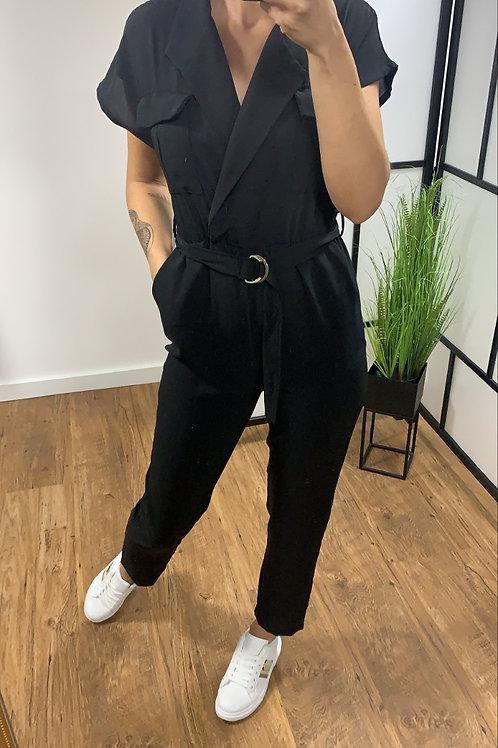 Jumpsuit pink, bleu & black