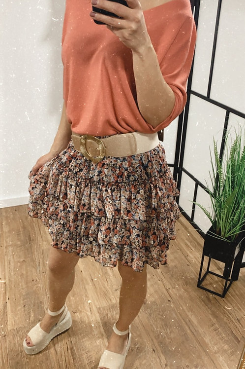Flower skirt black