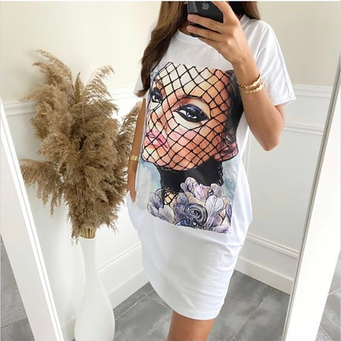 Tuniek jurk met zakjes