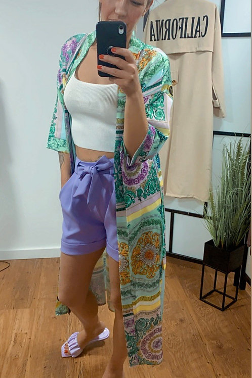 Kimono - lila - green - bleu
