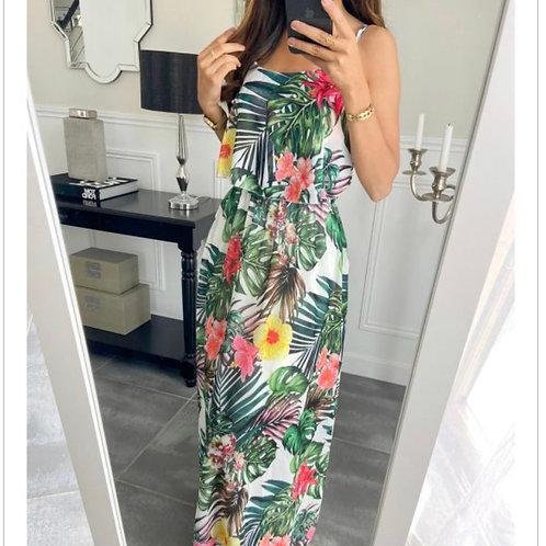 Lange jurk Tropische print