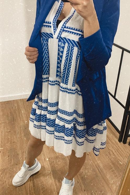 Losse jurk bedrukt in 4 kleuren
