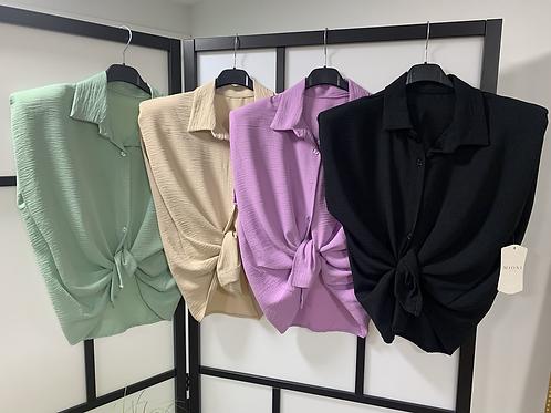 Hemdje met epauletten - Verschillende kleurtjes