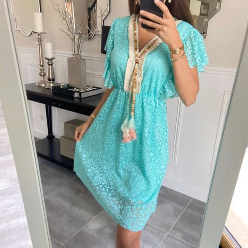 Ibiza jurk pastel groen