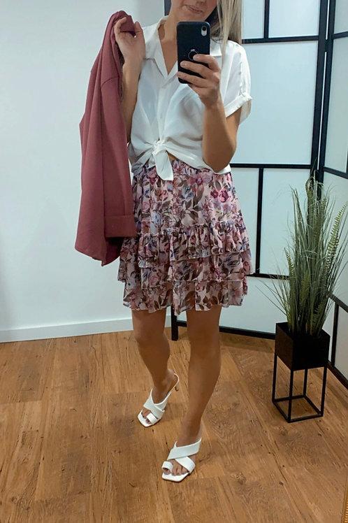 Flower skirt met laagjes - Roze