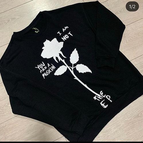 Sweater Roos met Tekst