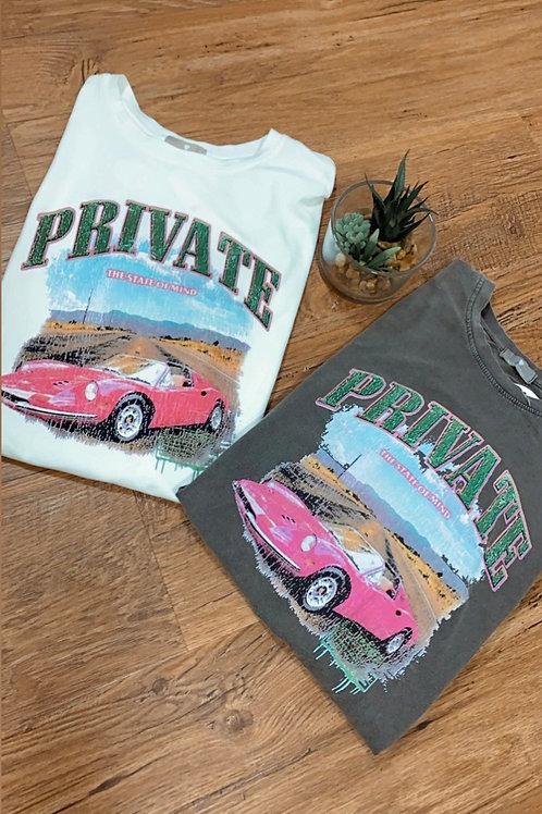 T-shirt - auto - wit of grijs
